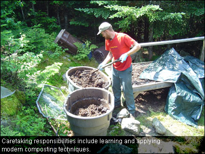 Responsibilities include learning and applying modern composting techniques