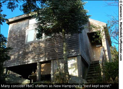 "Many consider RMC shelters as New Hampshire's ""best kept secret."""